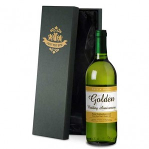 Personalised 50th Anniversary White Wine - Image 1