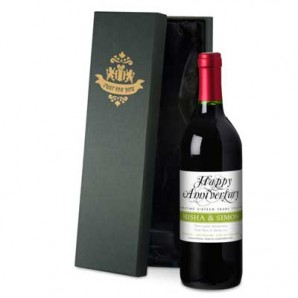 Personalised Anniversary Red Wine - Image 1