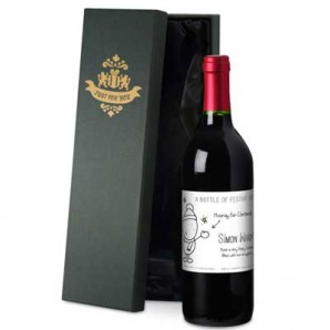 Personalised Chilli & Bubbles Christmas Red Wine - Image 1