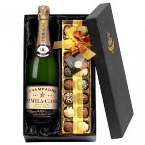 Personalised Champagne & Chocolates Gift Set - Image 1