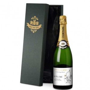 Personalised Chilli & Bubbles Retirement Champagne - Image 1
