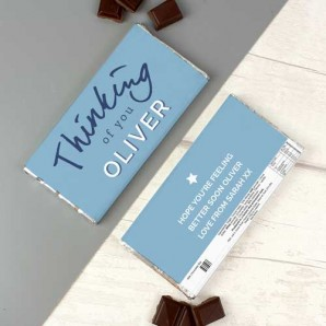 Personalised Thinking of You Milk Chocolate Bar - Image 1