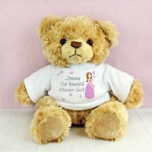 Personalised Fabulous Flower Girl Tatty Teddy - Image 1