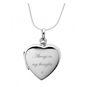 Personalised Silver Heart Locket Necklace - Image 1
