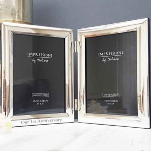 Personalised Silver Double Photo Frame - Image 1