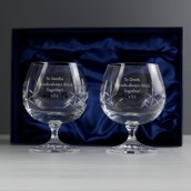 Personalised Crystal Brandy Glasses