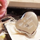Personalised Silver Heart Locket Keyring