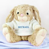 Personalised Bunny For A Boy
