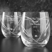 Personalised Swarovski Crystal Whisky Glasses