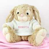 Personalised Bunny Pink For A Girl