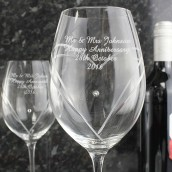 Swarovski Crystal Heart Wine Glasses