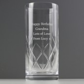Engraved Crystal Hi Ball Glass