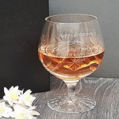Large Crystal Personalised Brandy Glass