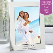 Engraved Silver Plated Photo Frame