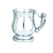 Engraved Baby Bear pewter Tankard
