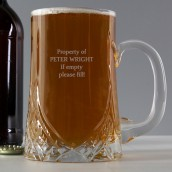 Engraved Pint Crystal Tankard
