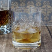 Lead Crystal Personalised Whiskey Tumbler