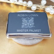 Personalised Silver Plated Business Card Holder