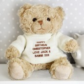 Personalised Tatty Teddy With Cream Jumper