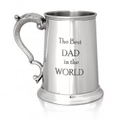 Engraved Best Dad 1Pnt Pewter Tankard