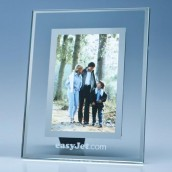 Glass & Silver Mount Personalised Photo frame