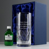 Engraved Crystal and Gin Gift Set
