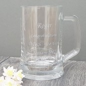 Personalised Crystal Half Pint Tankard