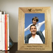 Personalised Oak Picture Frame - I Heart My...