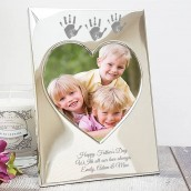 Personalised Imprint Silver Photo Frame