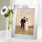 Engraved Silver Wedding Photo Frame