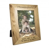 Personalised Oak Picture Frame - Grandchildren