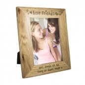 Personalised Oak Picture Frame - Best Friends