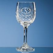 Engraved Lead Crystal Wine Glass