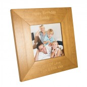 Personalised Wooden Square Photo Frame