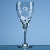 Personalised Modern Crystal Wine Glass