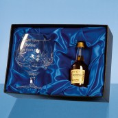 Personalised Crystal Brandy Gift Set