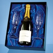 Personalised Crystal Champagne Gift Set