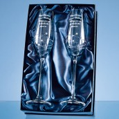 Personalised Swarovski Crystal Champagne Glasses