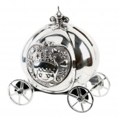 Silver Plated Cinderella Coach Money Box