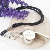 Personalised Silver Whistle