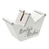 Personalised Wishes Crown Money Box