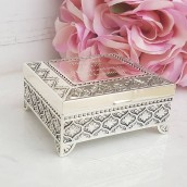 Engraved Antique Silver Trinket Box