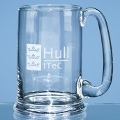 Personalised Darlington Crystal Pint Ale Tankard