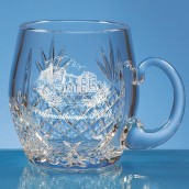 Personalised Lead Crystal Barrel Pint Tankard