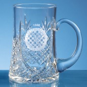 Personalised Lead Crystal Panel Pint Tankard
