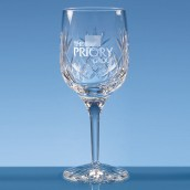 Personalised Lead Crystal Wine Goblet