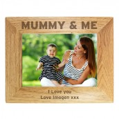 Personalised Wooden 'Mummy & Me' Photo Frame