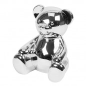 Personalised Teddy Bear Silver Plated Money Box