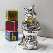 Personalised Disney Winnie The Pooh Silver Plated Money Box