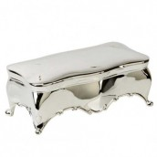 Personalised Silver Plated Scalloped Edge Trinket Box